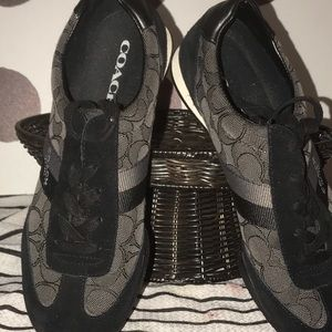 Coach black & gray sneakers.